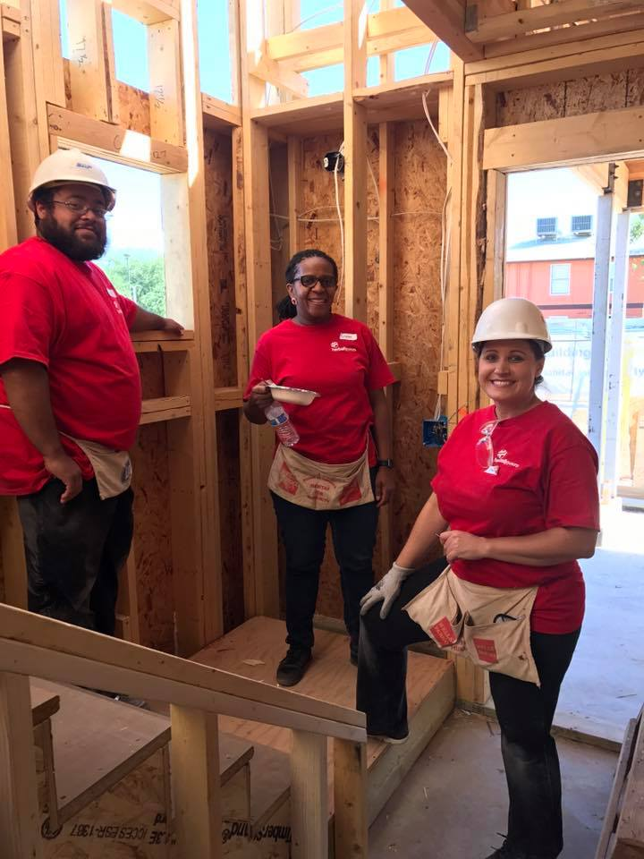 Herbally Yours team building houses with Habitat 4 Humanity